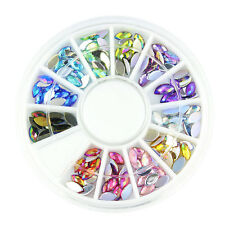 1x 3D Nail Art Acrylic Wheel Multi Rhinestone Gem Stone Charm Decoration Kit Box