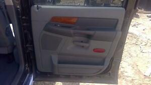 2006 2007 Dodge Ram 3500 Passenger Rear Medium Slate Gray Inner Door Trim Panel