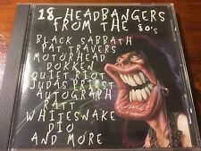 18 Headbangers from the 80's by Various Artists (CD, 1995, JCI Associated Labels