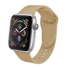 Pulsera Silicona Compatible Con Apple Watch Serie 5 42-44 MM Color Marron Nuez