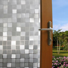 3DStatic Cling Cover Frosted Window Glass Film Paper Sticker Privacy Home Decor~