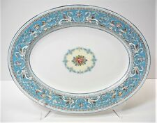 "WEDGWOOD Florentine Turquoise 15"" Oval Serving Platter"