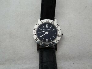 Very Fine BVLGARI Bulgari BB 23 SL Black Dial Quartz Ladies Watch