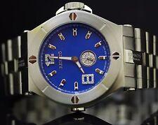 Renato Mens Wilde Beast Diamond Acc Blue Dial Stainless Steel Bracelet Watch