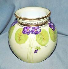 außergewöhnliche Jugendstil Vase m. Einsatz, handgemalt, Beyer & Bock, Volkstedt