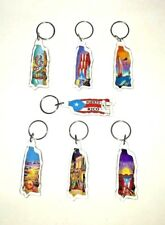 ONE ASSORTED Puerto Rico Island Key Chain Holder Souvenirs Key holder