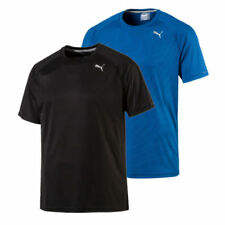 PUMA Polyester Short Sleeve Exercise Shirts for Men