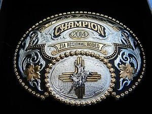 Gist Silversmith 2014 Flag Racing Champion ZIA REGIONAL Rodeo belt buckle