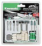 Kawasaki 841117 Rotary Tool Accessories Power Tool Accessories 25 Piece Kit