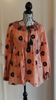 Odd Molly Bluse Tunica Baumwolle Seide Blumen 4 blouse tunic cotton silk flowers