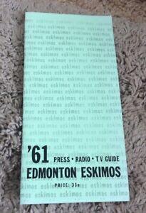 1961 Edmonton Eskimos CFL Media Guide Reprint