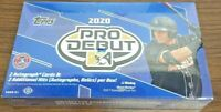 2020 Topps Pro Debut Baseball HOBBY Box FACTORY SEALED 2 AUTOS 2 RELIC