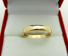 Solid 18k Yellow Gold Wedding Band Ring size 5.5