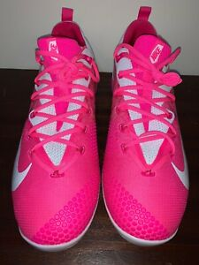 Nike Lunar Vapor Ultrafly Elite Metal Baseball Cleats Pink 852686-115 size 12.5