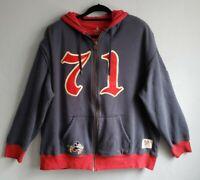 Walt Disney World 71 Zip Navy Red Mickey Mouse Hoodie Sweatshirt Unisex XXL 2XL