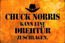 Chuck Norris Spruch 29 Blechschild Schild gewölbt Metal Tin Sign 20 x 30 cm