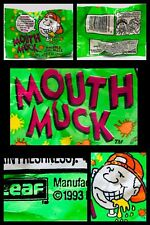 Vintage 1993 Leaf MOUTH MUCK Bubble Gum Pack candy container FOAMING GUM