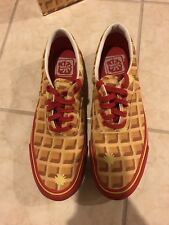 Rare Bbc Ice Cream Season 6 Waffle Deck Shoes Red First Style Ever Released!