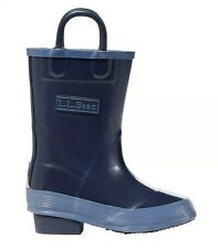 LL Bean Toddlers Rain Boots Wellies Puddle Stomper Blue Slip On 219862 Size 6