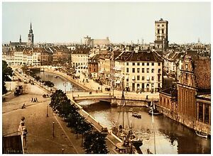 General view Copenhagen Denmark ca. 1890