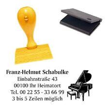 Adressenstempel « PIANO KLAVIER FLÜGEL » mit Kissen - Firmenstempel Musiklehrer