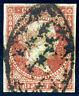 Spanishcuba. 1855. 2r p. Carmine. SC# 3. VF Used.