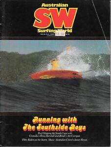 Australian Surfing World magazine 1981 Vol. 29 #6  reef hopping the South Coast