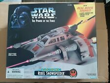 Star Wars Power Of The Force 1995 Electronic Rebel Snowspeeder