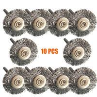 10X Stainless Steel Wire Brush Set Dremel Tool rotary die grinder removal wheel