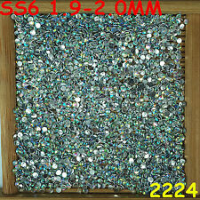 7000pcs SS6 Green iridescence Non Hotfix Crystal Acryl Rhinestone Flatback Beads