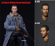 """*1:6 Scale A-08 Men Connor Head Sculpt F 12"""" Hot Toys Phicen Action Figure"""