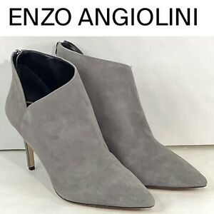 Enzo Angiolini EP-Ruthely Women's Suede Leather Ankle Boots Size 9.5 Gray