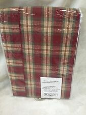Longaberger Shower Curtain Orchard Park Plaid Fabric New