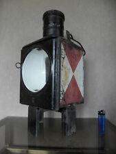 antique lamp light Bauhaus machine age vtg sconce iron railroad lantern SCONCE