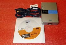 CISCO LINKSYS POWERLINE ETHERNET BRIDGE PLUGLINK NETWORK ADAPTER PLEBR10 #C7