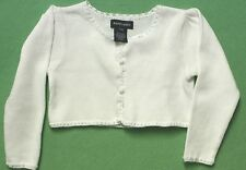 Ralph Lauren Sweater White Cardigan Sweater Button Down Crochet Trim NEW