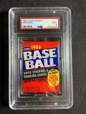 1986 Fleer Baseball Unopened Wax Pack PSA 9 MINT Old School!