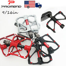 US PROMEND 9/16in 3 Bearing MTB Road Bike Pedal Bicycle Flat/Platform Light