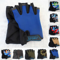 2pcs Kids Half Finger Bike Gloves Breathable Anti-slip For Sports Riding Cycling