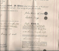 1879 York Pennsylvania Historic Document  John Emig and Rudy Original Land Deed