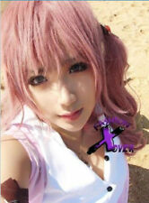 Final Fantasy XIII 13 Serah Farron Anime Long Mixed Pink Cosplay Wig