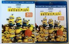 NEW MINIONS 3D BLU RAY DVD DIGITAL HD + LENTICULAR SLIPCOVER SLEEVE FREE SHIPPIN