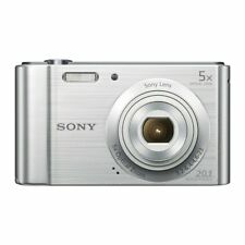 Compact Digital Camera Silver 20.1 MP 5x Optical Zoom wide-angle lens Gift .