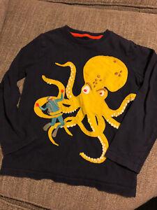 Mini Boden Octopus Scuba Diver Long Sleeve Shirt 6-7