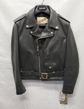 SCHOTT NYC 118 Classic Perfecto Black Leather Motorcycle Jacket Size 38