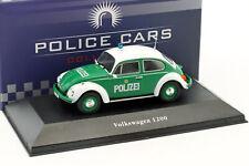 Volkswagen VW Käfer 1200 Polizei Deutschland Baujahr 1977 grün / weiß 1:43 At