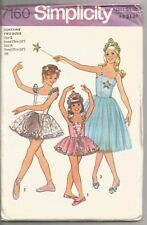 Simplicity Sewing Pattern 7160, Child's Ballet Costume, Sizes 12, 14, Uncut