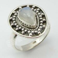 925 Solid Sterling Silver RAINBOW MOONSTONE Tribal Ring Size 7 ! Gift For Sister