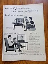 1953 RCA Victor TV Television Ad Rotomatic Tuning