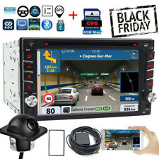 HD Sony Lens &GPS Double 2*Din Car Stereo Radio CD DVD Player Bluetooth with Map